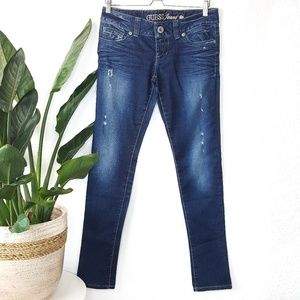 Guess Daredevil Skinny Blue Distressed Jeans 28